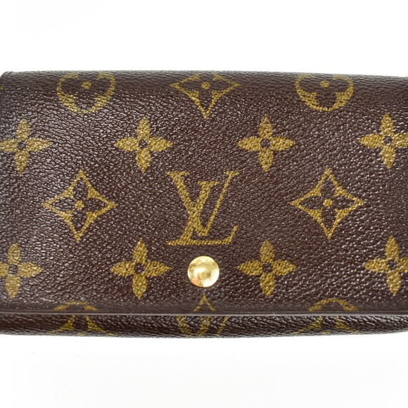 Louis Vuitton Bags   Porte Monnaie Brown Lv Wallet Pq   Poshmark 242cb9f8ae4